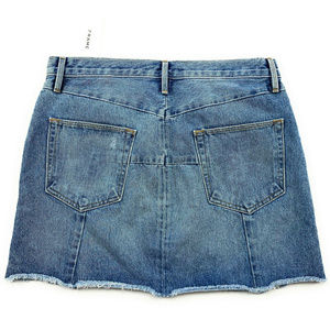 Frame Denim Skirts - Frame Zipper Denim Jean Skirt 30 Blue